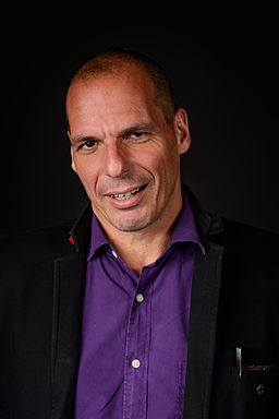 Yanis Varoufakis  - By Jfgoulon (Own work) [CC BY-SA 4.0 (http://creativecommons.org/licenses/by-sa/4.0)], via Wikimedia Commons